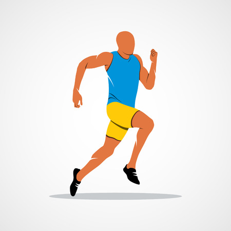 Runners on short distances sprinter Branding Identity Corporate design template Isolated on a white background.