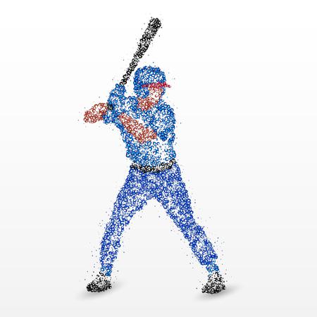 ballpark: Baseball player with a bat. Photo illustration.