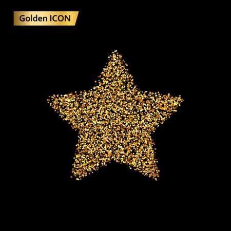 Icon stars of the golden circle. Vector illustration Illustration