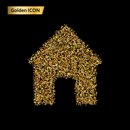 Icon home of the Golden Circle. Vector illustration