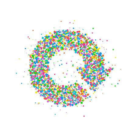 groupware: Icon circular arrows of multicolored circles. Vector illustration