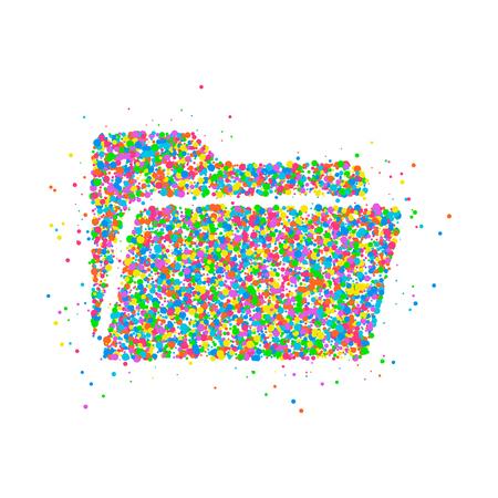 Folder Icon of multicolored circles. Photo illustration.