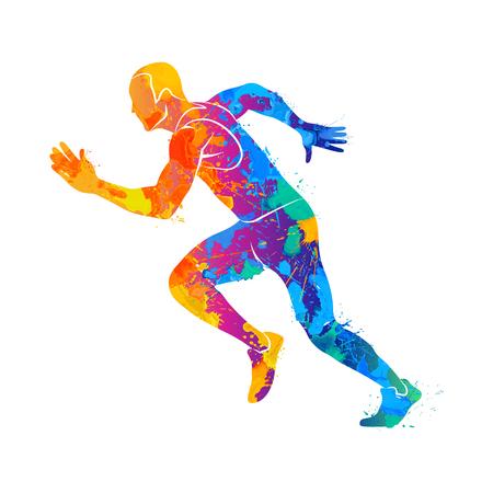 Hardlopen, sprinter, atleet