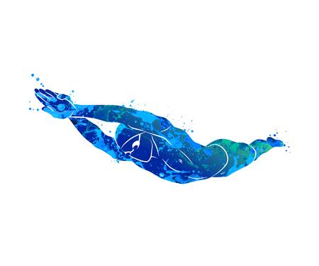 Zwemmen Logo sport Stock Illustratie