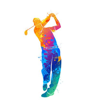 Golf Sport Silhouette Illustration