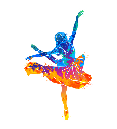 dancing girl colorful Stock Photo