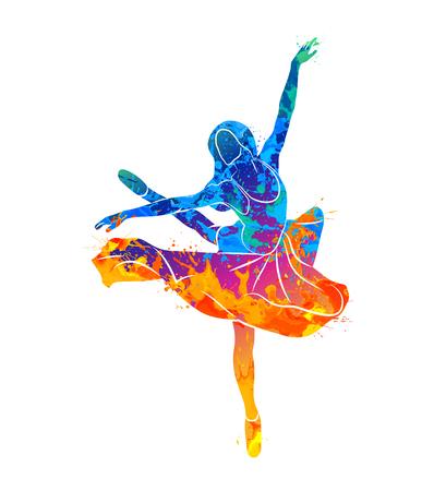 dancing girl colorful Archivio Fotografico