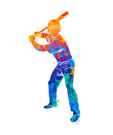 Baseball player ball. Illustration