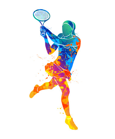 tennis player, silhouette