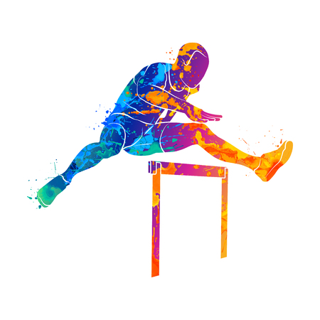 남자 점프 장애물