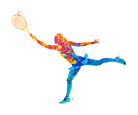 Tennis player, silhouette 版權商用圖片 - 78033511