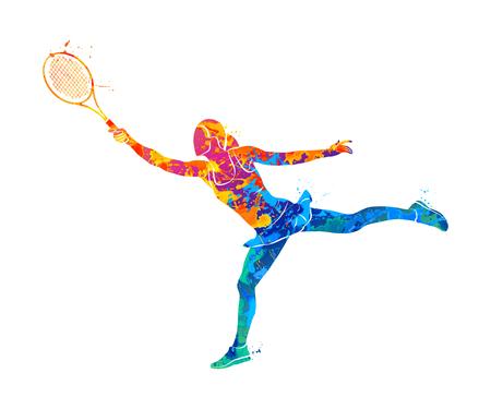 Tennisspeler, silhouet