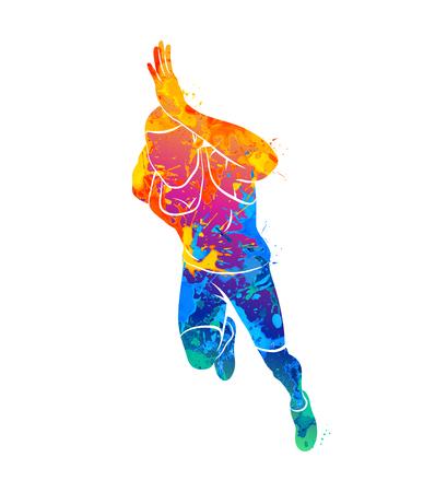Laufen, Sprinter, Sportler Vektorgrafik