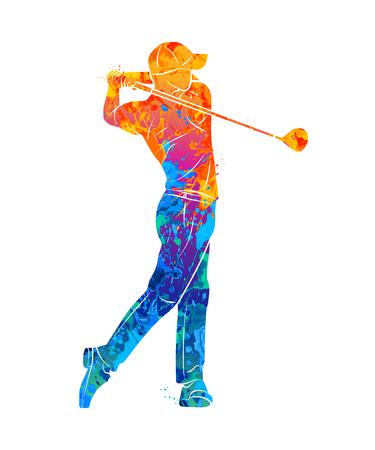 Golf Sport Silhouette Vectores