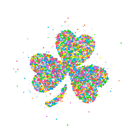 celtic: Abstract four leaf clover St Patricks Day