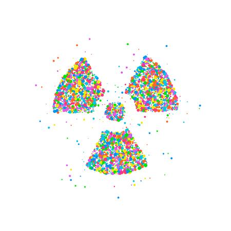Abstract radiation icon Stock Photo