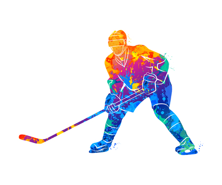 Hockey speler illustratie Stockfoto