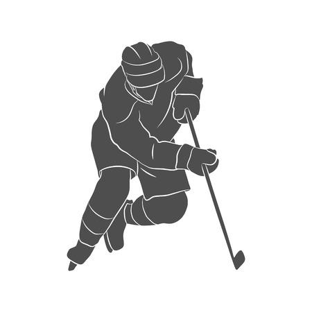 Illustration de joueur de hockey Banque d'images - 82857719