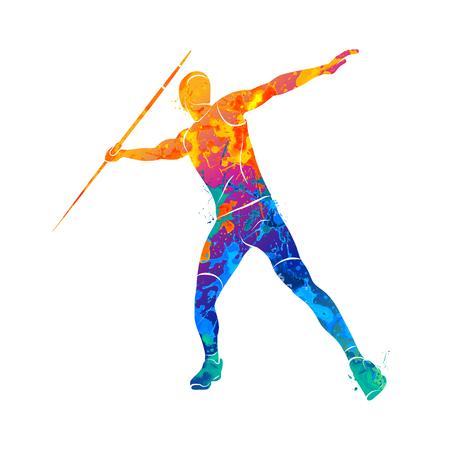 Giavellotto tiro atleta