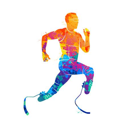 athlete runner Abstract Archivio Fotografico