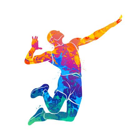 Joueur de volleyball abstraite