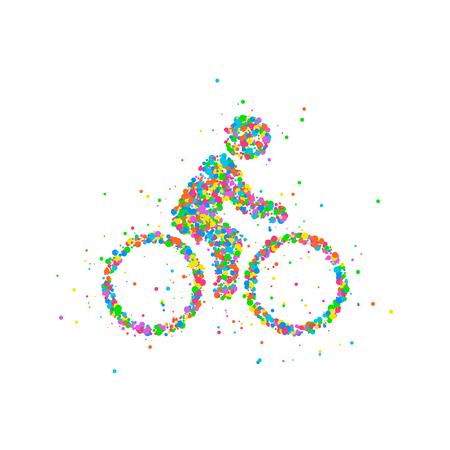 Cyclists Abstract biker Vektorové ilustrace