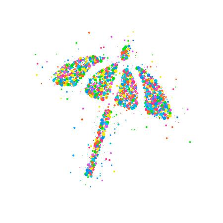 beach umbrella Abstract Stock Vector - 84790601