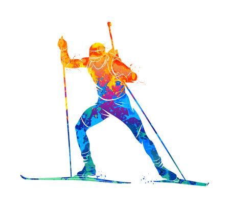 Biathlon Abstracte sport Vector Illustratie