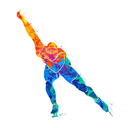 Abstract speed skaters Illusztráció