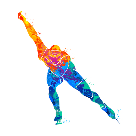 Abstract speed skaters Illustration