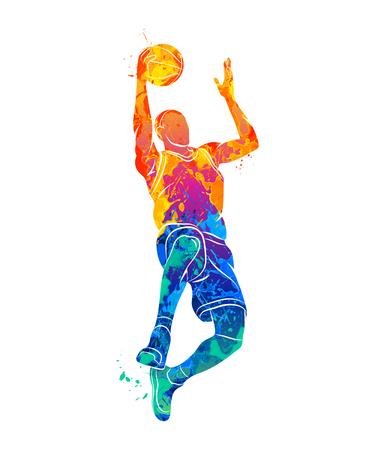 joueur de basket-ball, balle