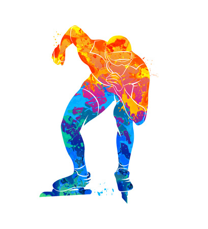 Abstract speed skaters Stock Photo