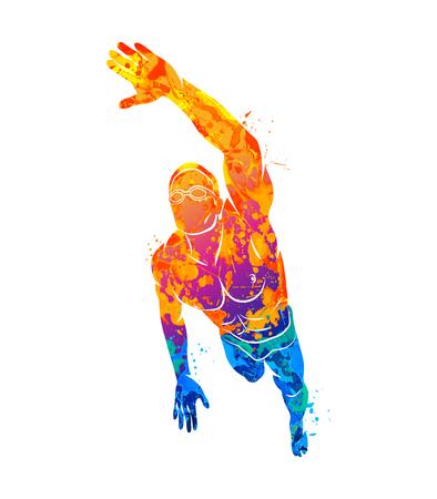 Zwemmen Logo sport Stockfoto