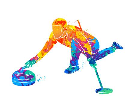 カーリング ゲーム スポーツ 写真素材