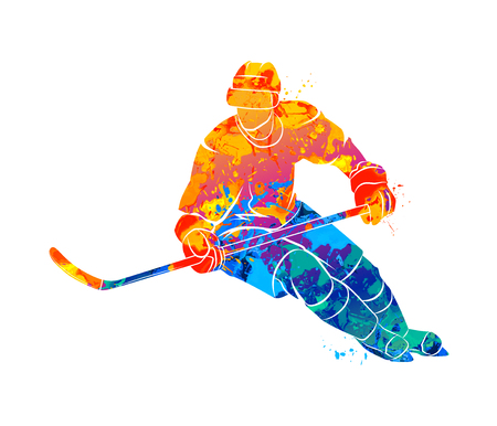 Hockey speler illustratie Stockfoto