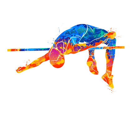 High Jump Abstract Illustration