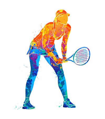 Tennis player Illustration