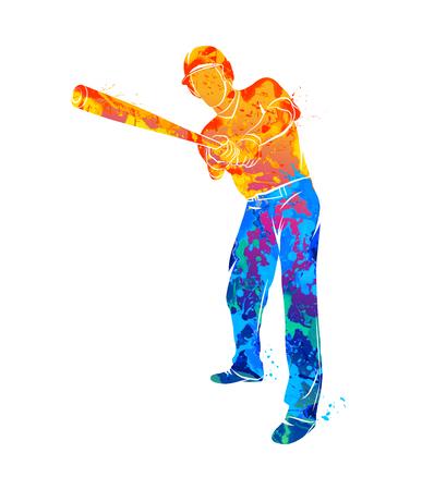 Baseball player ball Illustration