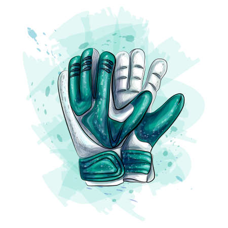 Goalkeeper gloves. Football gloves vector on white background Illustration