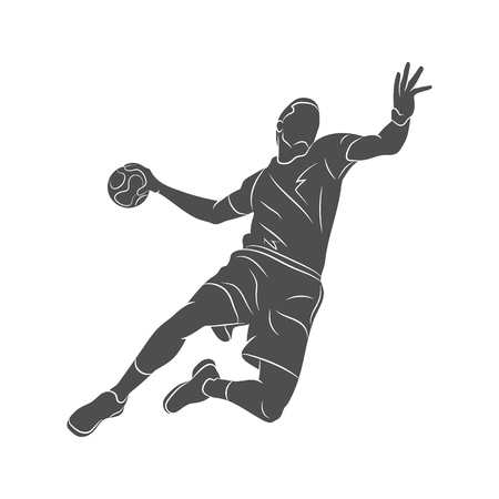 Handball player abstract vector illustration Vettoriali