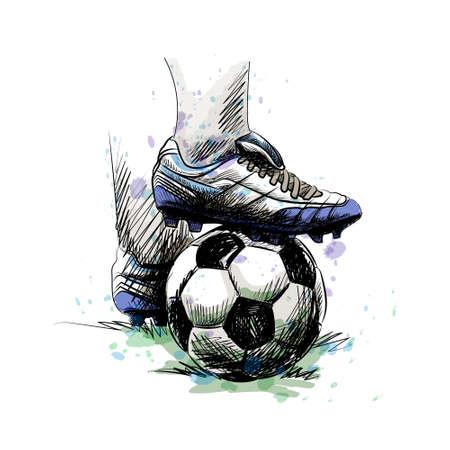 football player ball Illustration