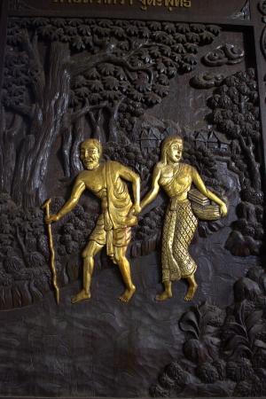 wood carvings: Wood carvings on the walls
