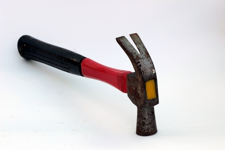 Hammer hit the nail  Stock Photo - 17177169
