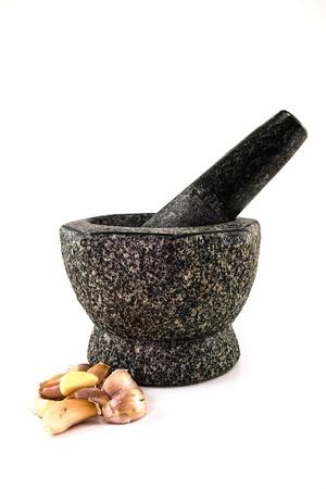 Stone mortar photo