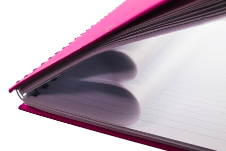 Pink notebook Stock Photo - 17805407