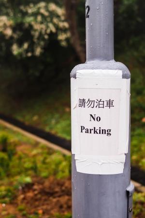 No-parking sign photo