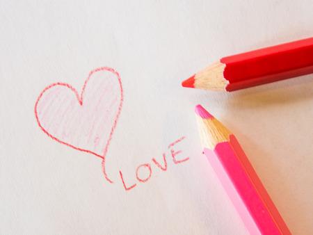 San Valentin Dibujos En Color. Ilustracin Con La Mano Dibujo ...