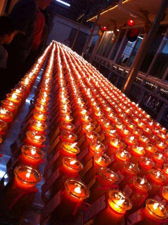 wish: Wesak Day candle wishes Stock Photo