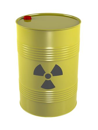 radioactive radio waste barrel Stock Photo - 5375330