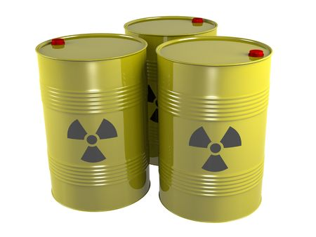 radioactive radio waste barrel Stock Photo - 5375329